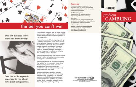 InFocus: At Risk-Problem Gambling Pamphlet