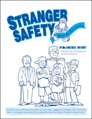 """Eli Sprightly's """"Stranger Safety"""" Activity Sheet"""
