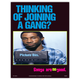 """""""Thinking of Joining a Gang?"""" Poster"""