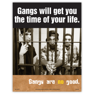 """""""Gangs Will Get You The Time Of Your Life"""" Poster"""