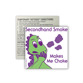 Donnie Dinosaur's Secondhand Smoke Removable Tattoo