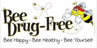 Bee Drug-Free Banner
