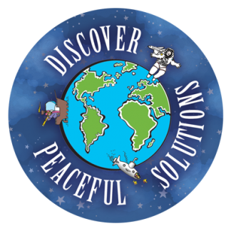 """Discover Peaceful Solutions"""" Sticker"""