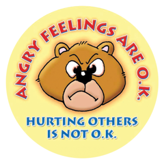 """""""Angry Feelings Are O.K."""" Sticker"""
