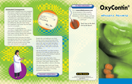 In the Know: OxyContin, Abusers Beware – Pamphlet