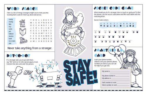 """""""Eli Sprightly's: Stranger Safety"""" Activity Sheet"""