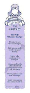 """""""Eli Sprightly's: Stranger Safety"""" Bookmark"""