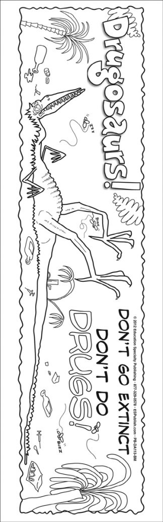 Drugosaurs! Color Me Bookmark