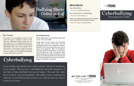 InFocus: At Risk-Cyberbullying, Protecting Your Child Pamphlet