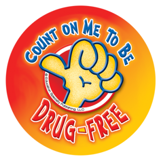 """""""Count on Me to be Drug-Free"""" Sticker"""