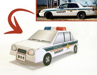 Custom Pop-Up Patrol Car