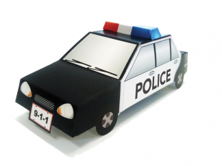 Pop-Up Patrol Car