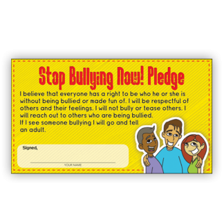 Stop Bullying Pledge Card