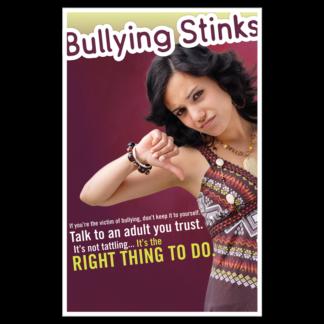 """Bullying Stinks"" Poster"