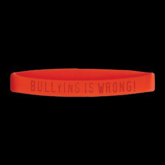 """Bullying is...Wrong"" Wristband"