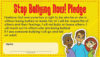 """Stop Bullying"" Pledge Card"