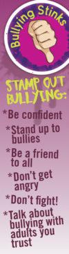 """Bullying Stinks"" Bookmark"