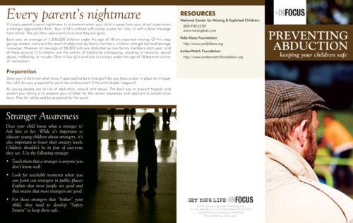 """InFocus: Preventing Abduction"" Pamphlet"