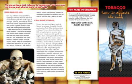 In the Know: Tobacco – How It Affects The Body Pamphlet
