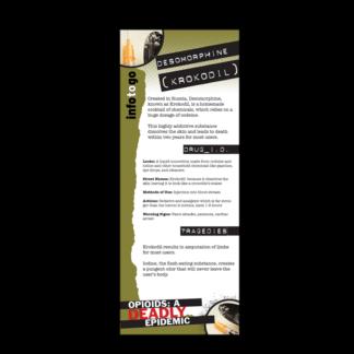 Info to Go: Desomorphine (Krokodil) Rack Card