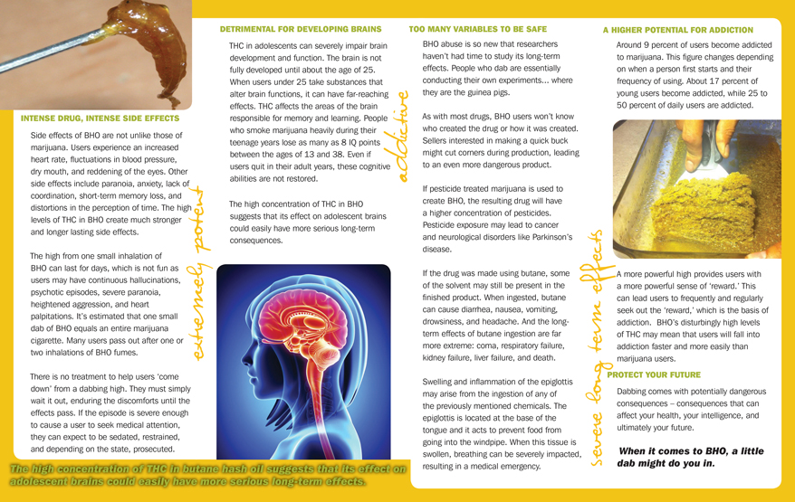 In the Know: Dabbing - Waxy Marijuana Overload - Pamphlet