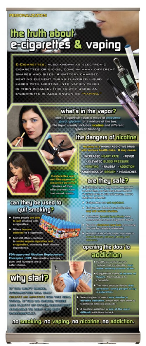 The Truth About E-Cigarettes & Vaping Presentation Display
