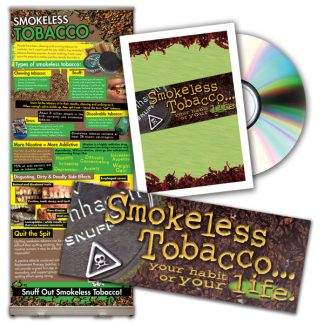 Smokeless Tobacco Presentation Display/ Pamphlet/ DVD Package