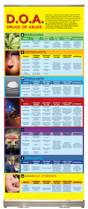 Drugs of Abuse Presentation Display