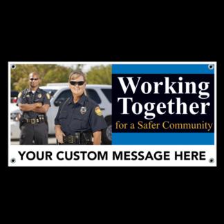 Working Together for A Safer Community Banner