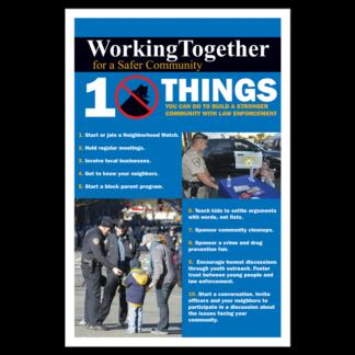Working Together For A Safer Community Poster