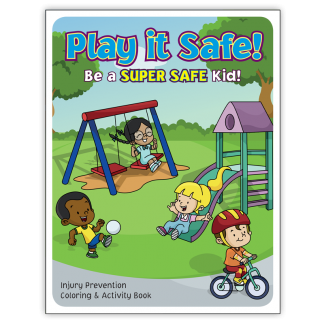 """""""Play it Safe: Be A Super Safe Kid"""" Activity Book"""