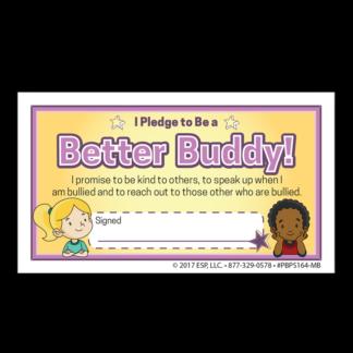"""Be a Better Buddy! Not a Bully"" Pledge Card"