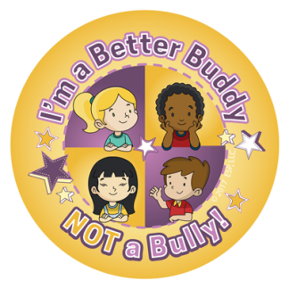 """Be a Better Buddy! Not a Bully"" Sticker"