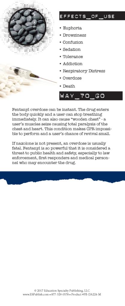 Fentanyl Opioids Rack Card 2