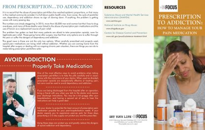 Prescription to Addiction: How to Manage Your Pain Medication – Pamphlet