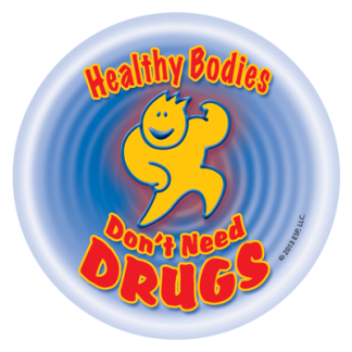 """""""Healthy Bodies Don't Need Drugs!"""" Sticker"""