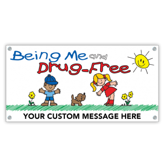 Being Me and Drug-Free Banner