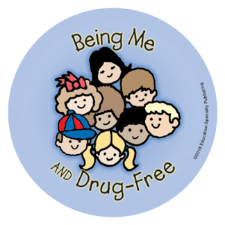 """""""Being Me and Drug-Free"""" Sticker"""
