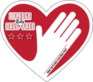 """I Pledge to be Drug-Free"" Sign-Up Card"