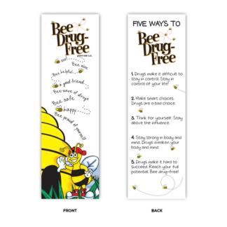 """'Bee' Drug-Free"" Bookmarks"