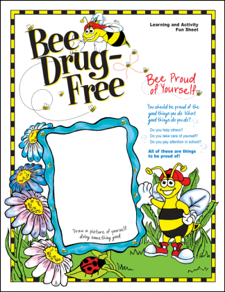 """'Bee' Drug-Free"" Activity Sheet"