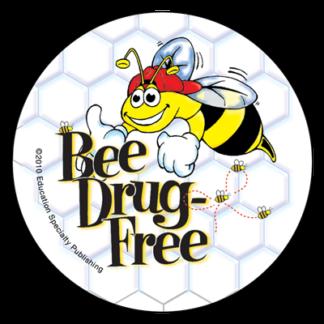 """""""'Bee' Drug-Free"""" Sticker"""