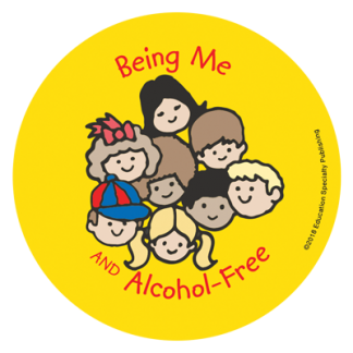 """""""Being Me and Alcohol-Free"""" Sticker"""