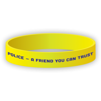 """""""Police - A Friend You Can Trust"""" Wristband"""