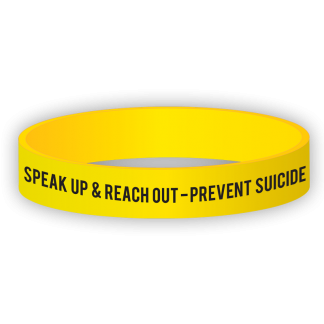 """""""Speak Up & Reach Out - Prevent Suicide"""" Wristband"""