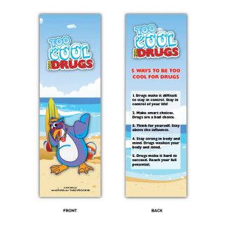 """""""Too Cool for Drugs"""" Bookmarks"""