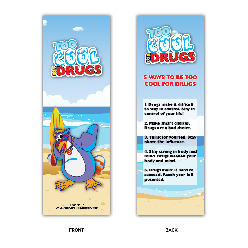 """Too Cool for Drugs"" Bookmarks"