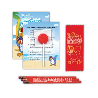 """Too Cool for Drugs"" Lollipop Card MiniPak"