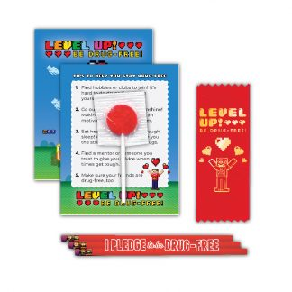 """Level Up! Be Drug-Free"" Lollipop Card MiniPak"