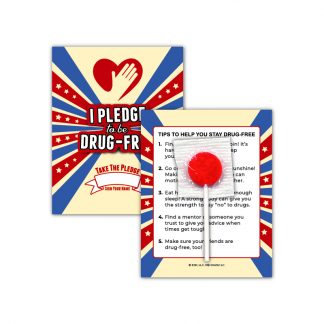 """I Pledge to be Drug-Free"" Lollipop Card"